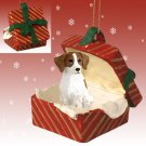RGBD27B Brittany, Brown & White Red Gift Box Ornament
