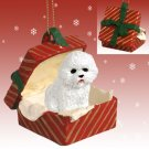 RGBD29 Bichon Frise Red Gift Box Ornament