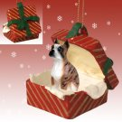 RGBD33C Boxer, Brindle Red Gift Box Ornament