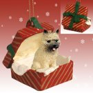 RGBD53B Cairn Terrier, Red, Red Gift Box Ornament