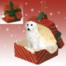 RGBD75 Great Pyrenees Red Gift Box Ornament