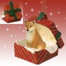 RGBD96 Shiba Inu  Red Gift Box Ornament