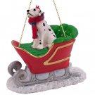 SLD02 Dalmatian Sleigh Ride Ornament