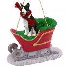 SLD07B Bull Terrier, Brindle Sleigh Ride Ornament