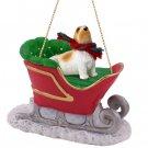 SLD113 Basset Griffon Vendeen Sleigh Ride Ornament