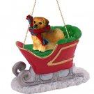 SLD122 Tibetan Spaniel  Sleigh Ride Ornament