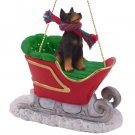 SLD25A Doberman, Black Sleigh Ride Ornament
