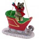 SLD32 Keeshond Sleigh Ride Ornament