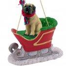 SLD49 Mastiff Sleigh Ride Ornament