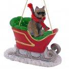 SLD53C Cairn Terrier, Brindle Sleigh Ride Ornament