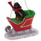 SLD66 Gordon Setter  Sleigh Ride Ornament