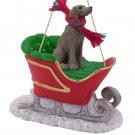 SLD68 Weimaraner Sleigh Ride Ornament