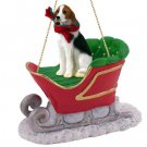 SLD91 American Foxhound Sleigh Ride Ornament