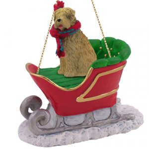 SLD98 Soft Coated Wheaten  Sleigh Ride Ornament