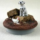 "DTTC02 Dalmatian Tiny One Candle Topper """"A Day on the Farm"""""