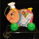 Vintage Fisher Price Cookie Pig #476 1965