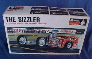 1967 Monogram The Sizzler Slingshot Dragster Model Box