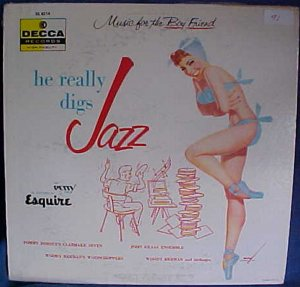 Music For The Boy Friend- He Likes Jazz Petty Pin Up LP Cover