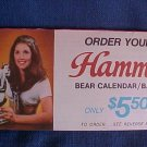 Vintage 1973 Hamm's Beer Bear Calendar Bank Offer Form