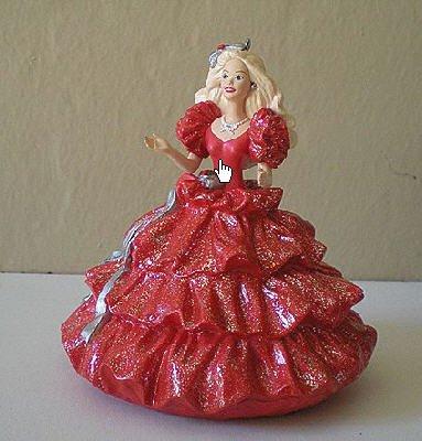 HALLMARK 1996 Club Edition Retro Holiday Barbie 1st In Series ORNAMENT  -  FREE SHIPPING