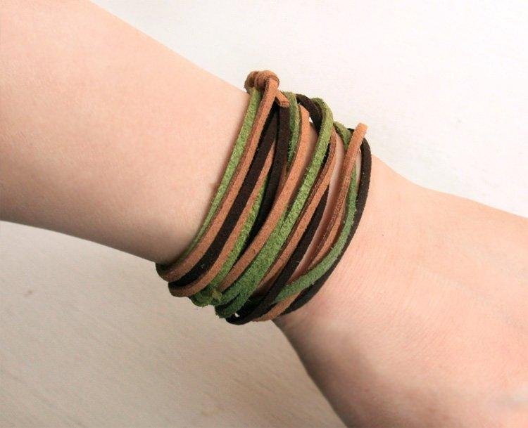 Long Suede Cord Bracelets (set of 3) (13 colors to choose)