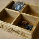 4 Compartments Antique Wood Tray (On Sale)