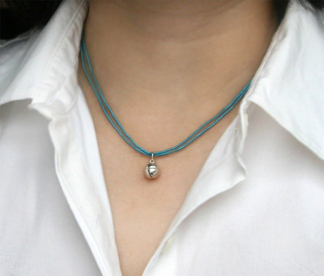 Sterling Silver Jingle Bell Necklace