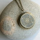 Vintage Style Large Locket Necklace
