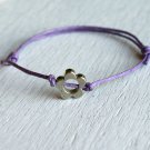 Flower Bracelet or Flower Anklet - Single Flower Bead (many colors)