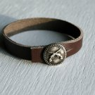 Leather Strap Bracelet (5 different styles of buttons to choose)
