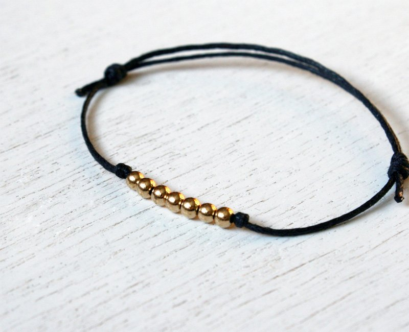 Shining Brass Beads Bracelet or beads Anklet (many colors to choose)
