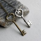 Key Necklace with Chain (many keys to choose)