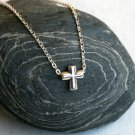 Sterling Silver Cross Bead Necklace