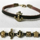 Leather Bracelet / Anchor Bracelet / Star Bracelet / Pig Bracelet / Music Bracelet / Love Bracelet