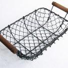 Rust Steel Rectangle Wire Basket (On Sale)