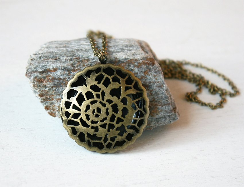 Hollow Locket Necklace (on Sale)