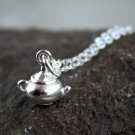 Sterling Silver Teapot Necklace