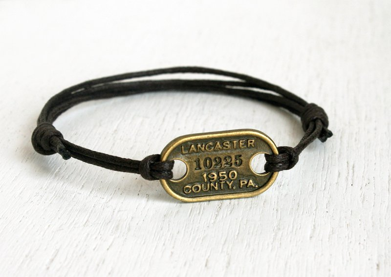 License Plate Bracelet (Many color to choose)