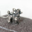 Sterling Silver Poodle Necklace / Dog Necklace