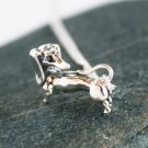 Sterling Silver Dachshund Necklace / Dog Necklace