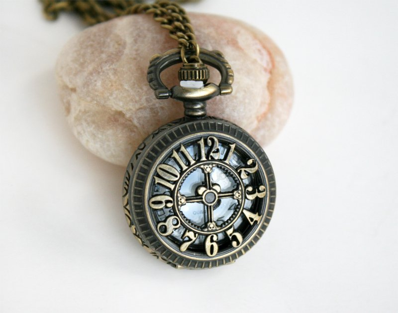 pocket necklace clock necklace 8 styles to choose