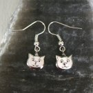 Cat Earrings / Cat Face Earrings