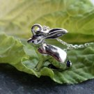 Sterling Silver Rabbit Necklace / Bunny Necklace