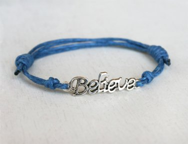Believe Bracelet / Believe Anklet / Message Bracelet