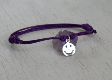 Smiley Face Bracelet, Smiley Face Anklet, Happy Face Bracelet, Happy Face Anklet (Many colors