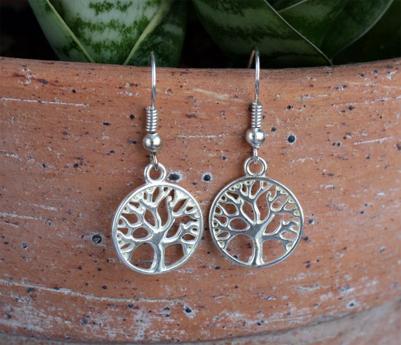 Tree Earrings, Tree of Life Earrings