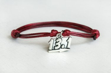Half Marathon bracelet, Sport Bracelet (Many colors to choose)