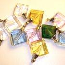 10 Assorted diamond shaped pendant vial charms
