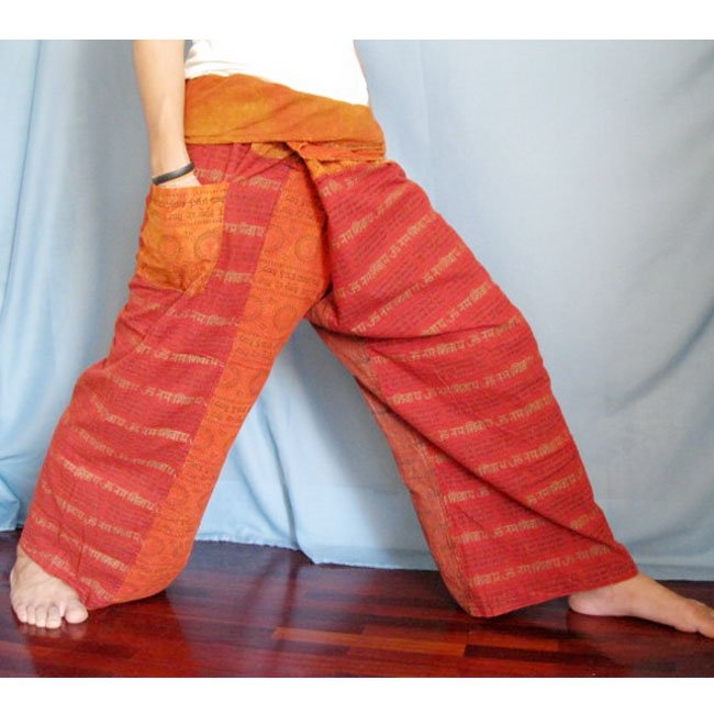 Tie Dye Cotton Ohm Patchwork Thai Fisherman Pants N44
