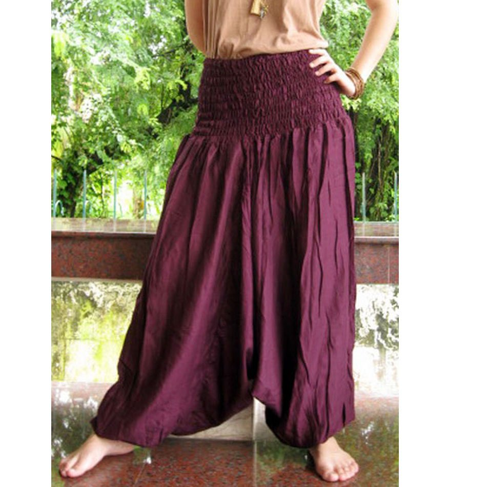 Boho Hippie Gypsy harem pants S M L XL 05